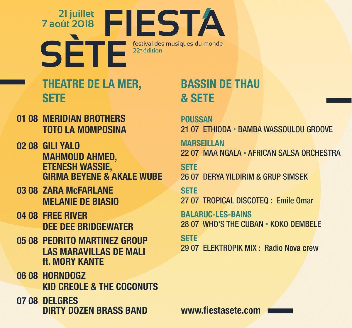 Festival Fiesta's Sète 2018