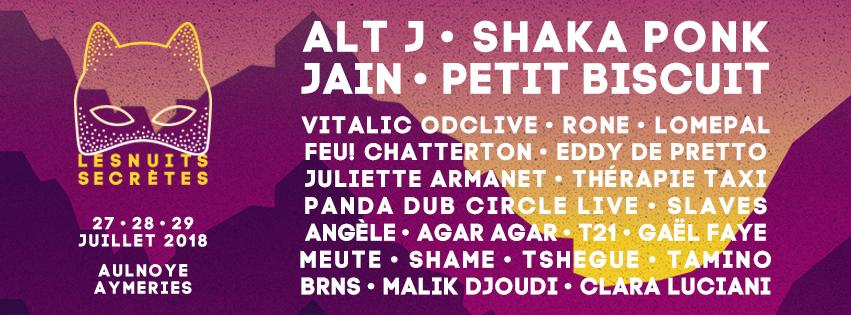 Festival Les Nuits Secrêtes 2018