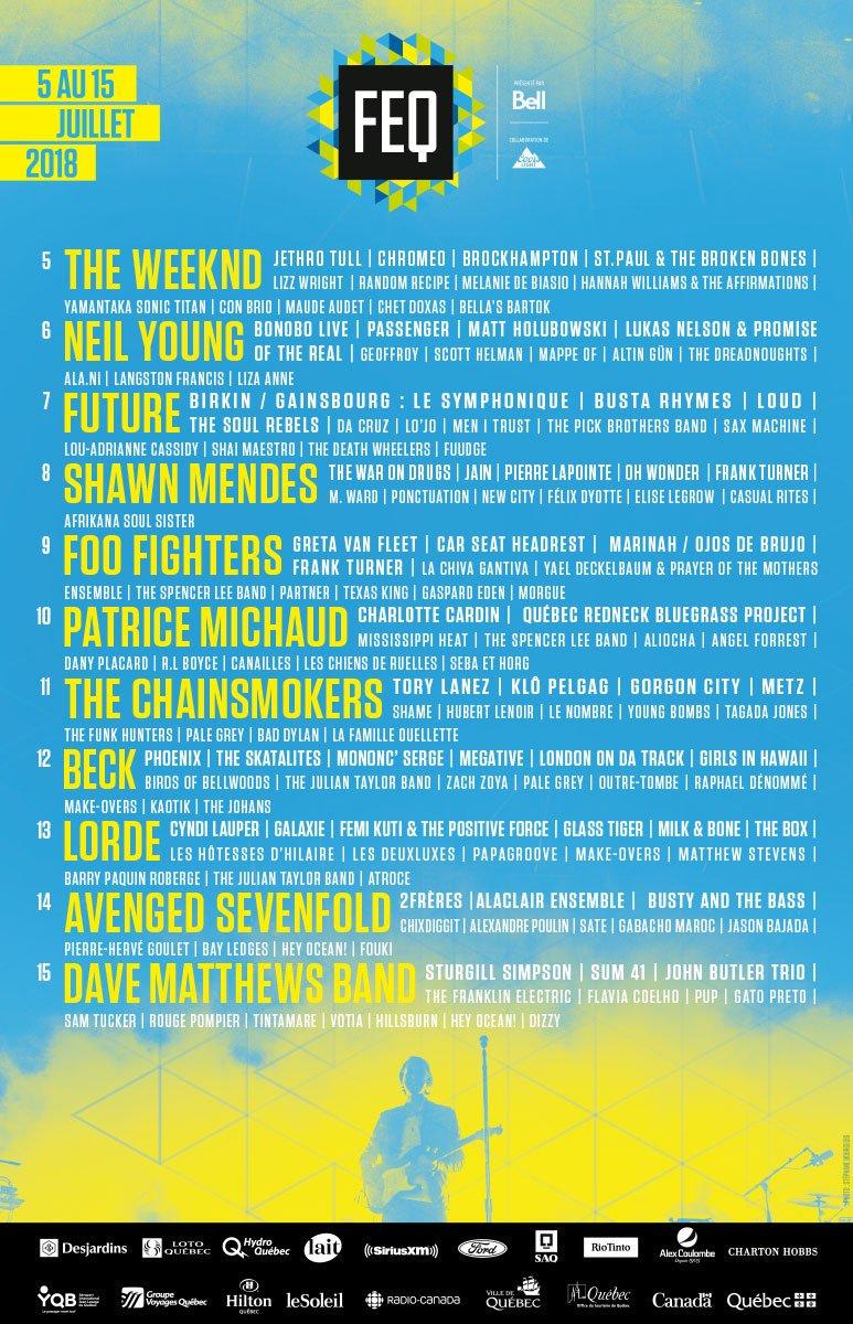 Festival d'Eté de Québec 2018